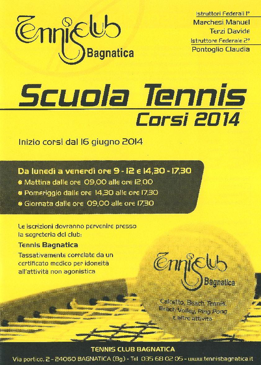 Corsi Estivi di Tennis a Bagnatica