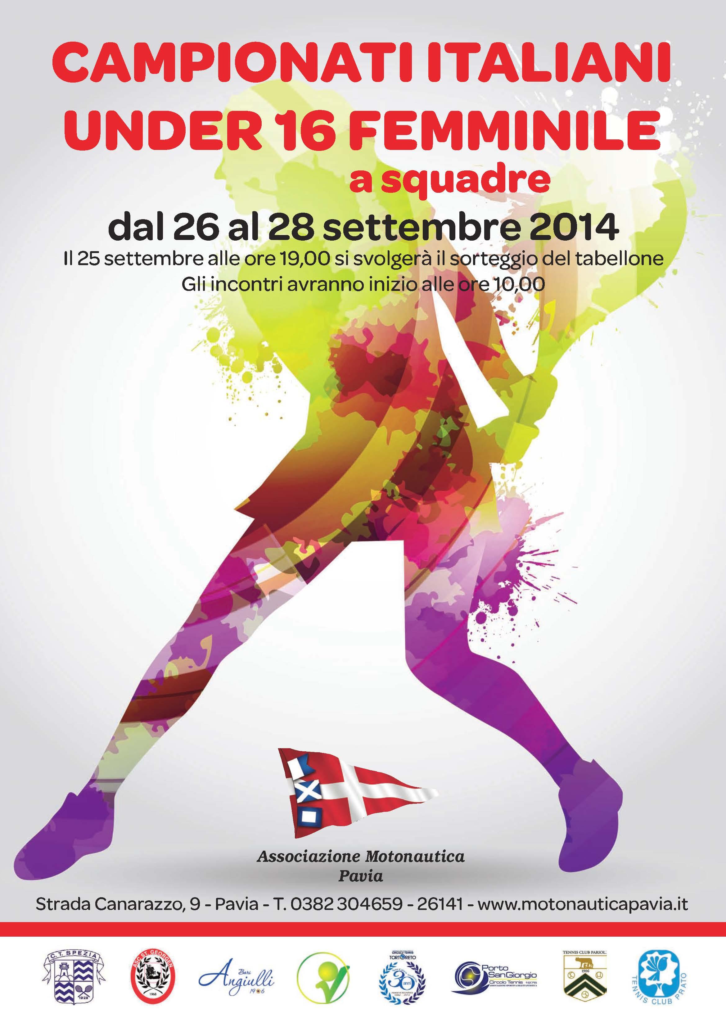 Campionati Italiani Under 16 Femminile a Squadre 2014