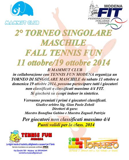 2° Torneo SM FALL TENNIS FUN