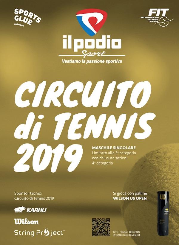 """Circuito di tennis 2019 """"Il Podio Sport"""""""